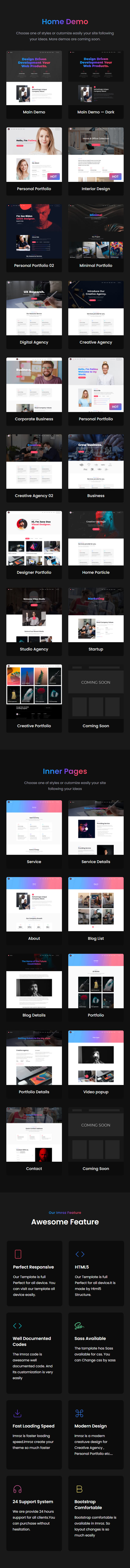 Imroz - Creative Agency and Portfolio Bootstrap Template - 8
