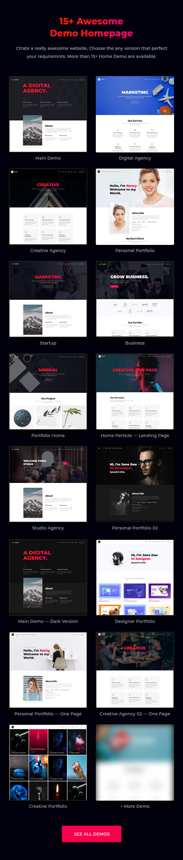 Trydo - Creative Agency and Portfolio Bootstrap Template - 7