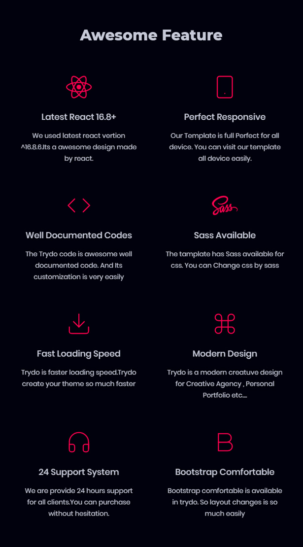 React Creative Agency, React Portfolio and Corporate Multi Purpose Template - Trydo - 9