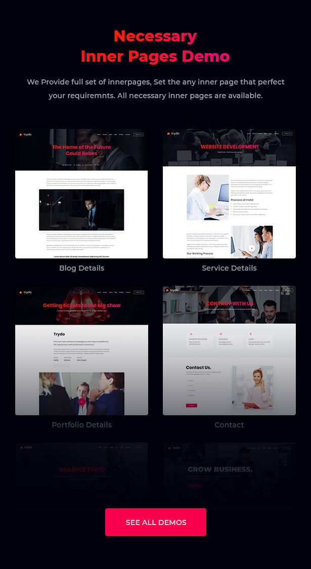 React Creative Agency, React Portfolio and Corporate Multi Purpose Template - Trydo - 7