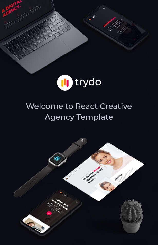 React Creative Agency, React Portfolio and Corporate Multi Purpose Template - Trydo - 5