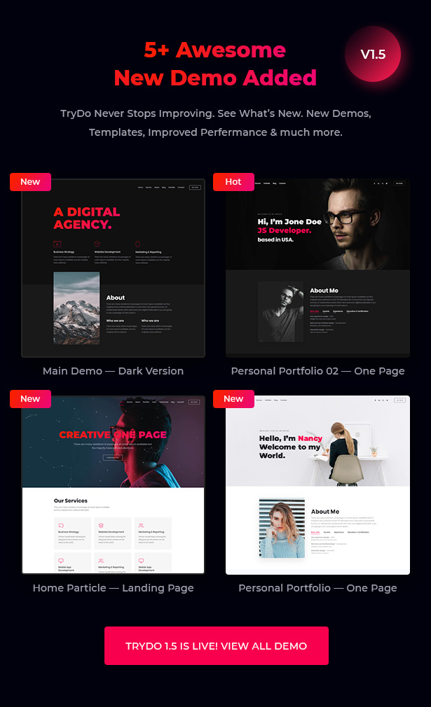 Trydo - Creative Agency and Portfolio Bootstrap Template - 5