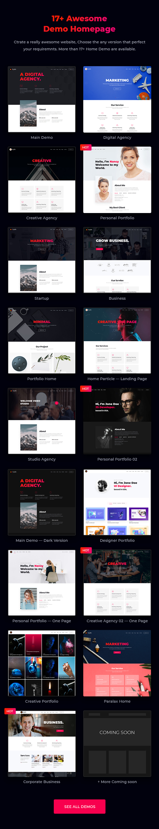 Trydo - Creative Agency & Portfolio WordPress Theme - 8