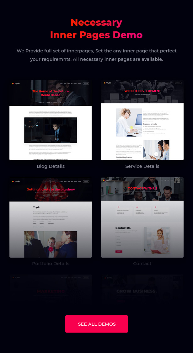 Trydo - Creative Agency & Portfolio WordPress Theme - 9