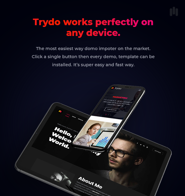 Trydo - Creative Agency & Portfolio WordPress Theme - 14
